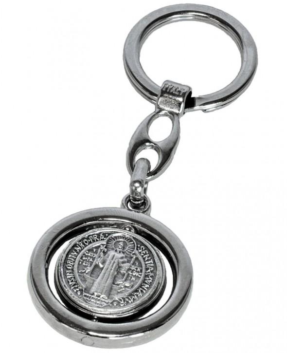 Porta-chaves com medalha oficial de São Bento