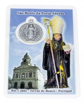 Cartão com Oração e Medalha Oficial de São Bento
