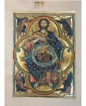 Pasta com 2 lâminas da Bíblia de São Luís: Pantocrator